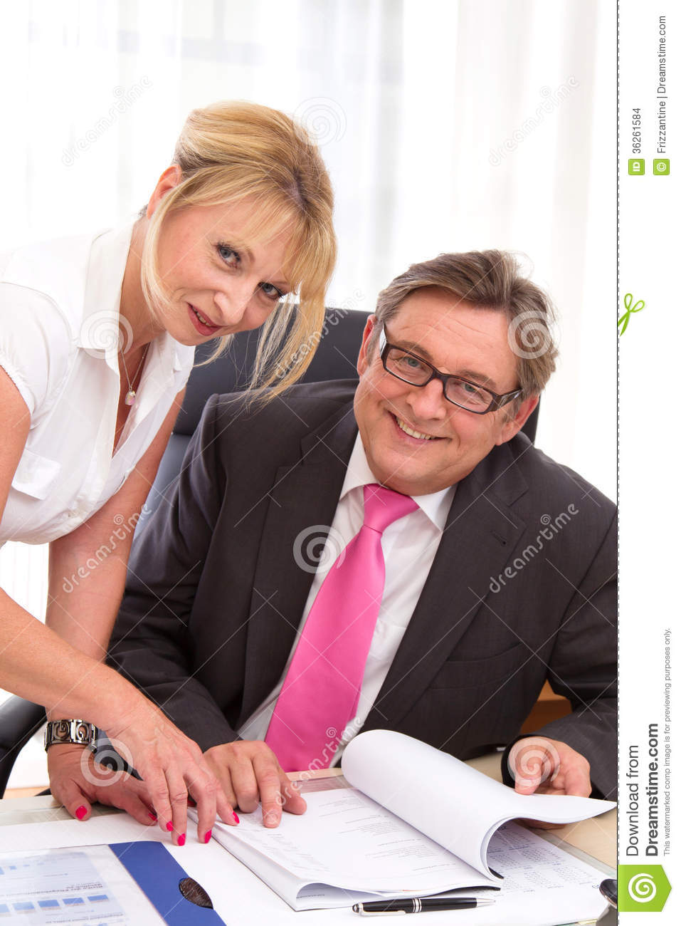 Secretary Flirting with Boss