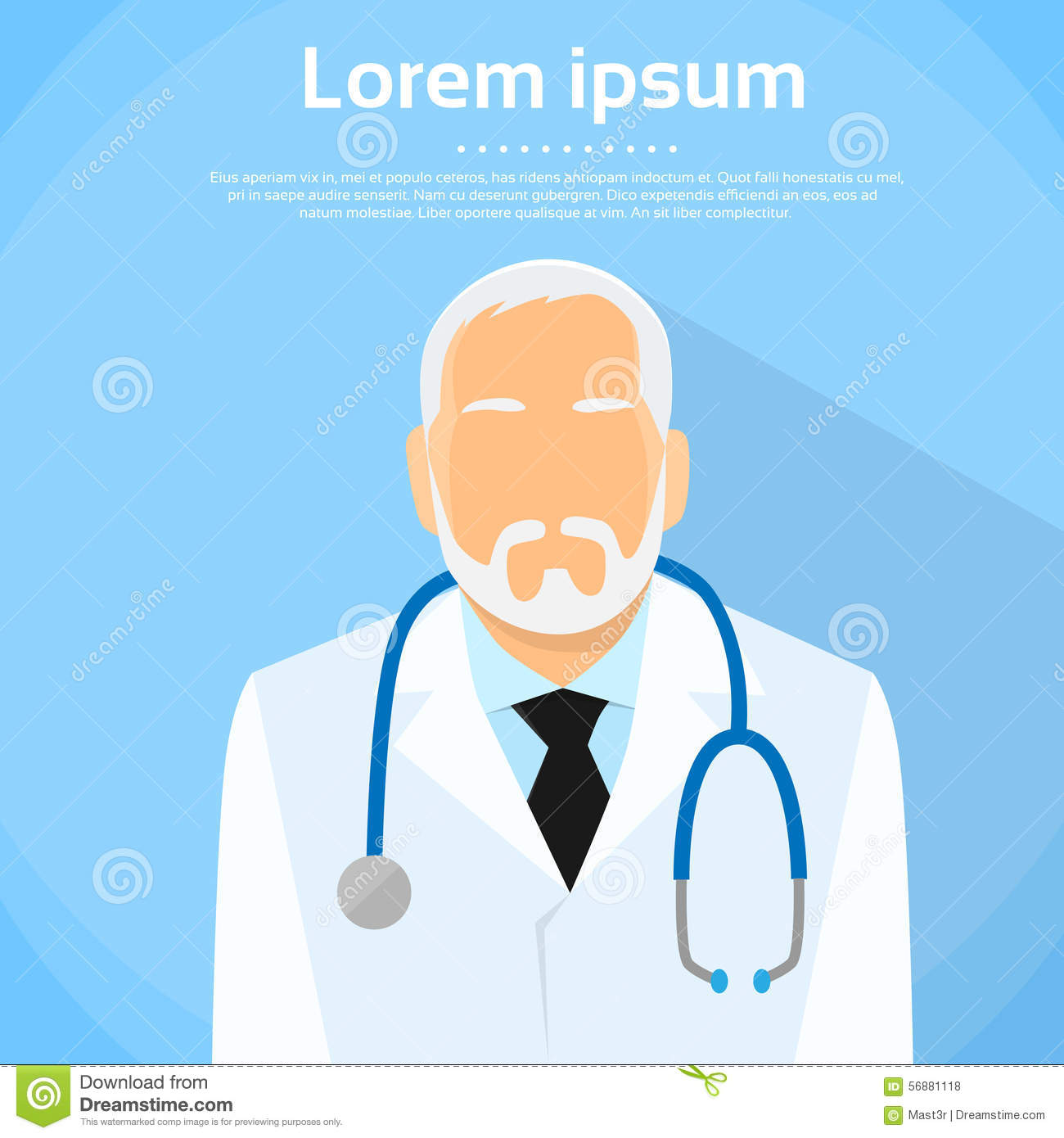 Senior Medical Doctor Profile Icon Male Portrait Stock ...