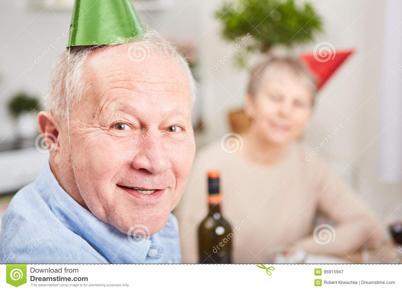 Senior in new year& x27;s eve celebration