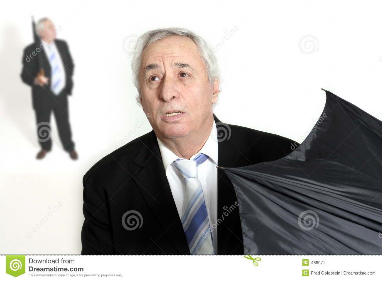 Download Senior opening umbrella stock image. Image of weather, isolated - 468071