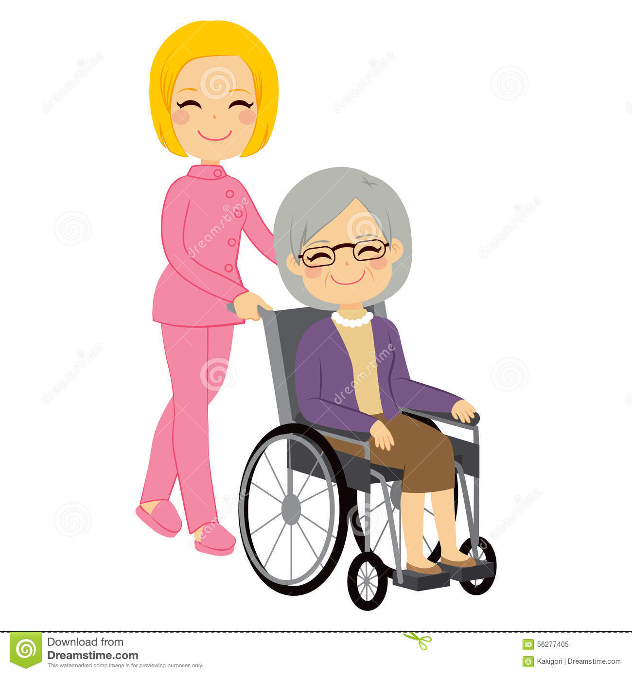 Senior patient woman wheelchair stock vector image 56277405 for Sedia a rotelle cartoon