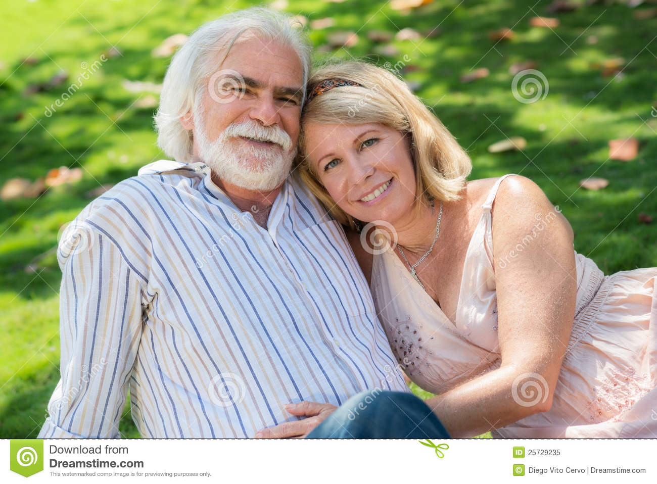 Old woman and man