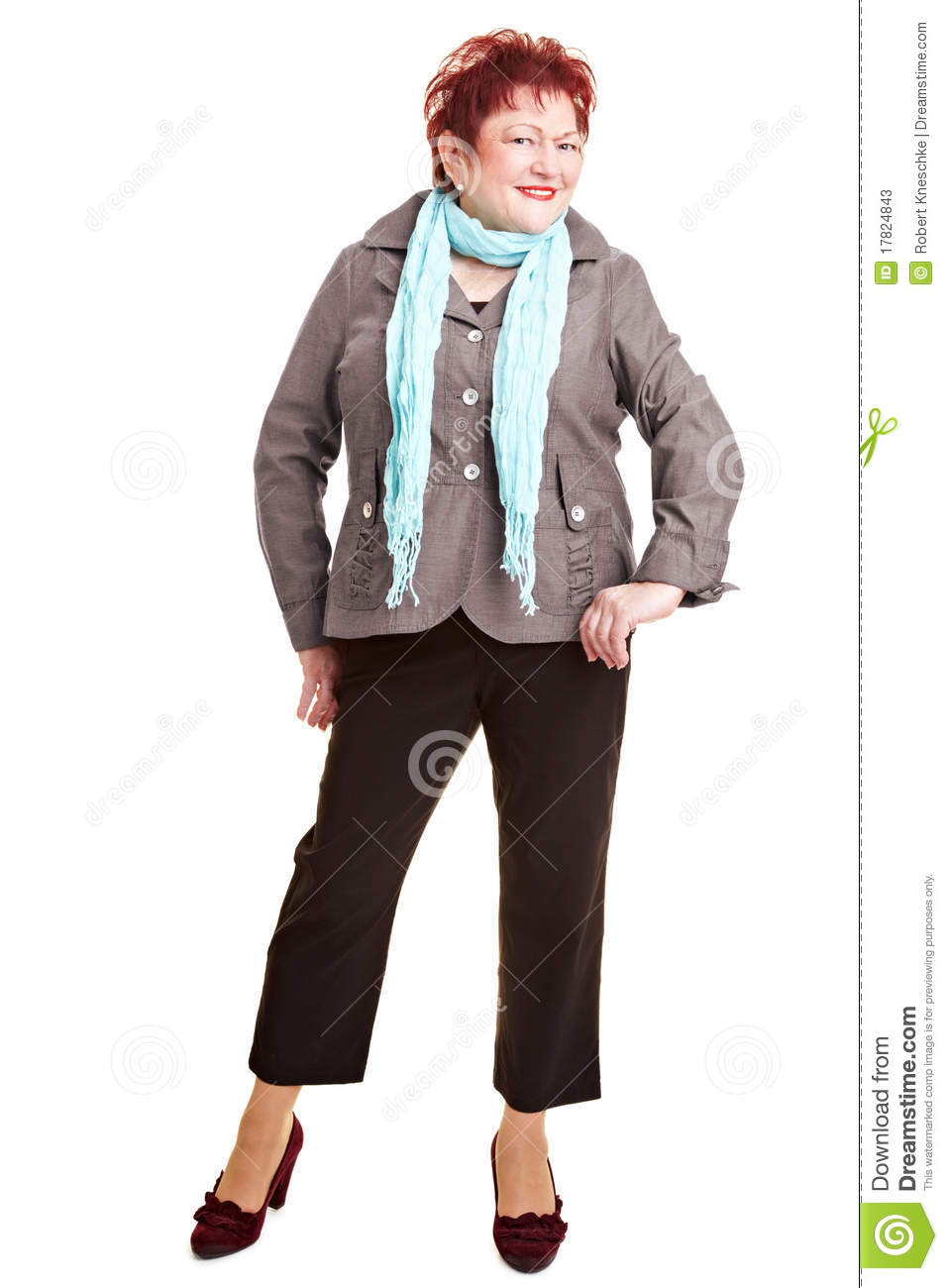 Senior Plus Size Fashion Model Stock Image