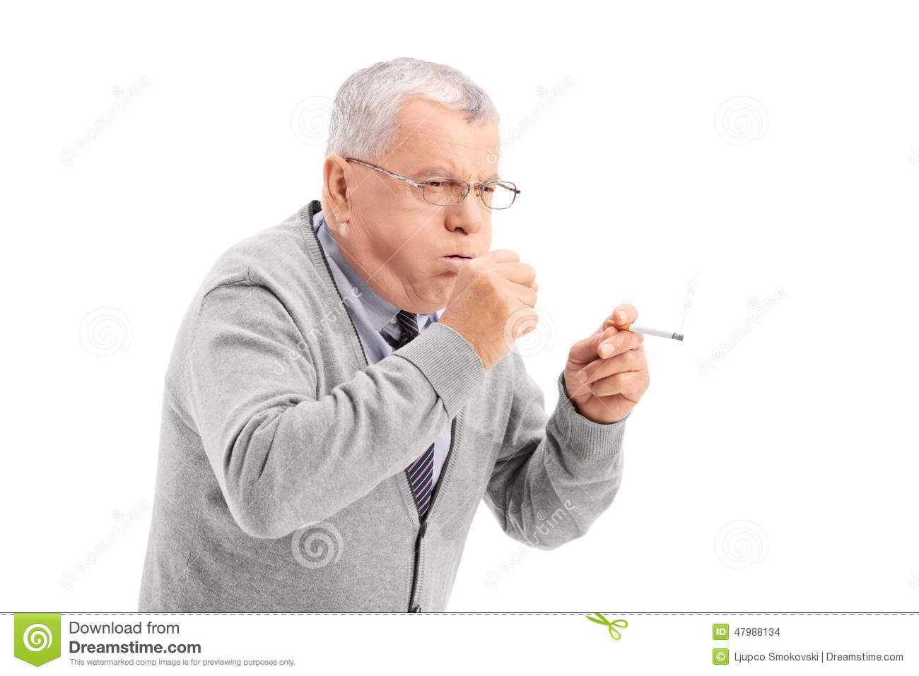 Smokers cough — Stock Photo © hartphotography #10236071
