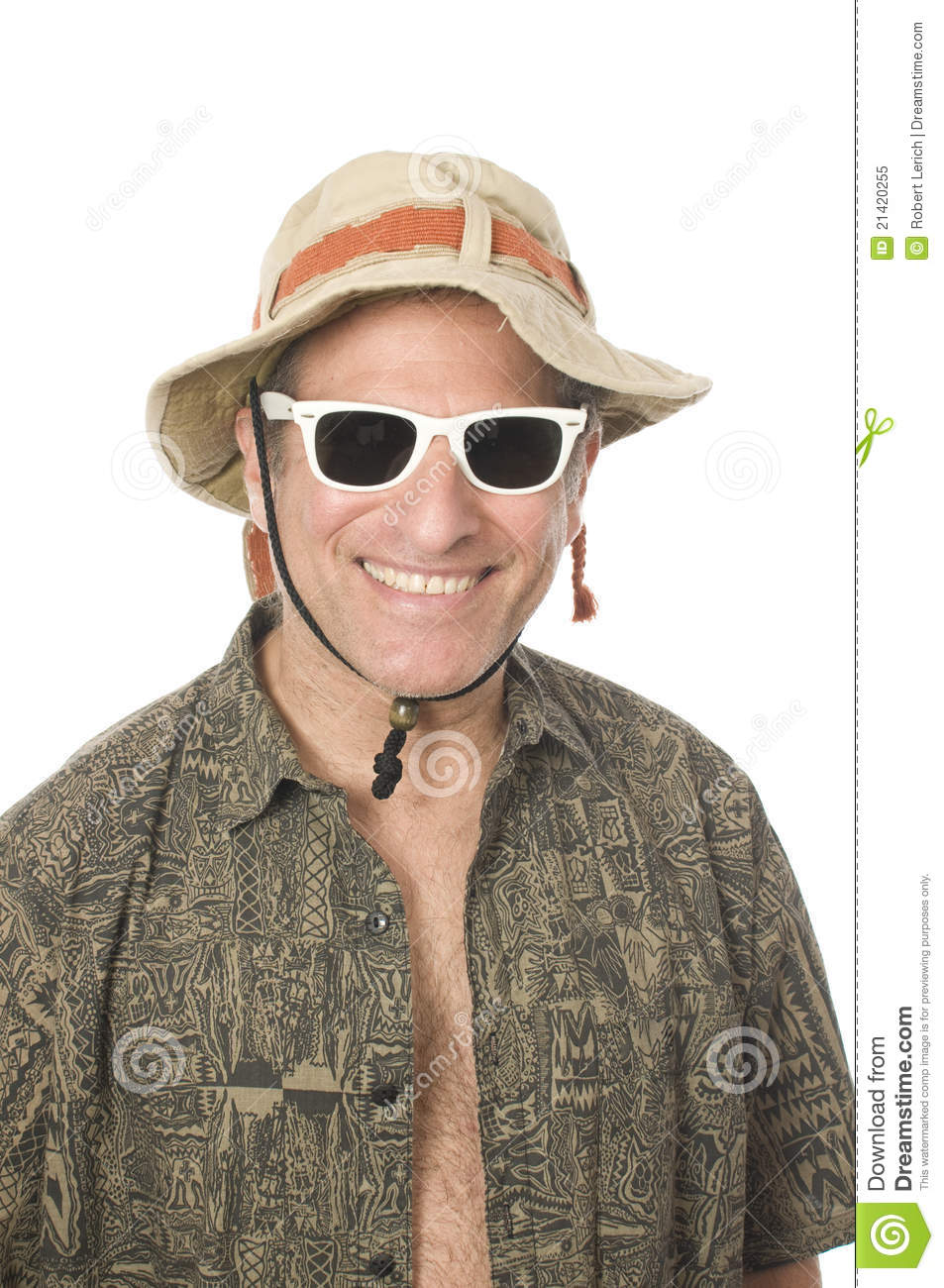 Smiling middle age senior tourist male wearing sun hat and white sunglasses 8123622588f2
