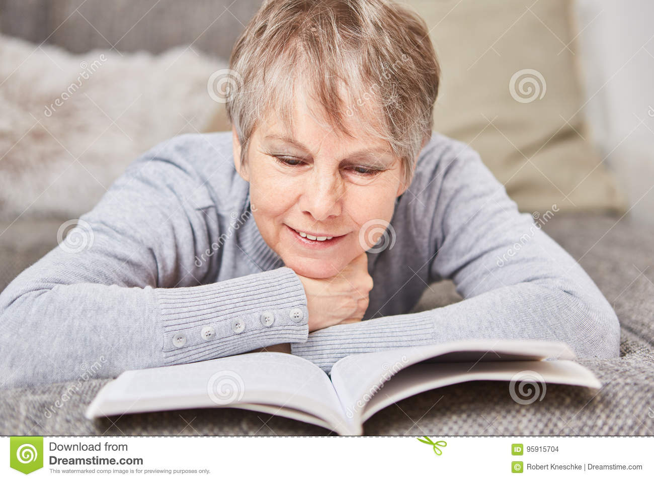 Senior woman with a book
