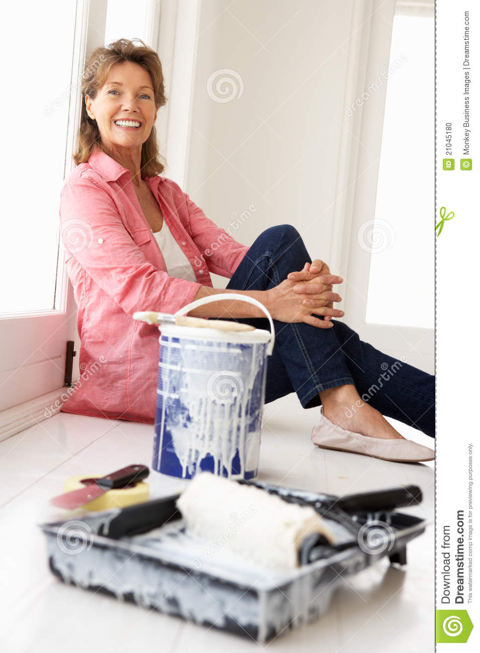 Living Room Decorating The House senior woman decorating house stock photo image 21045180 house