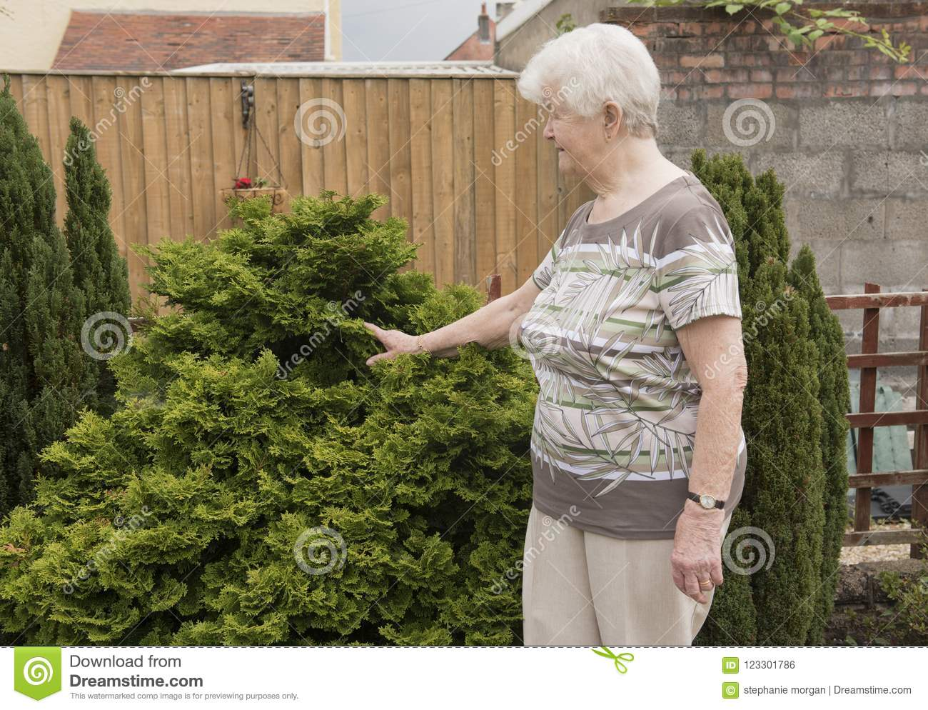 Senior woman in her garden