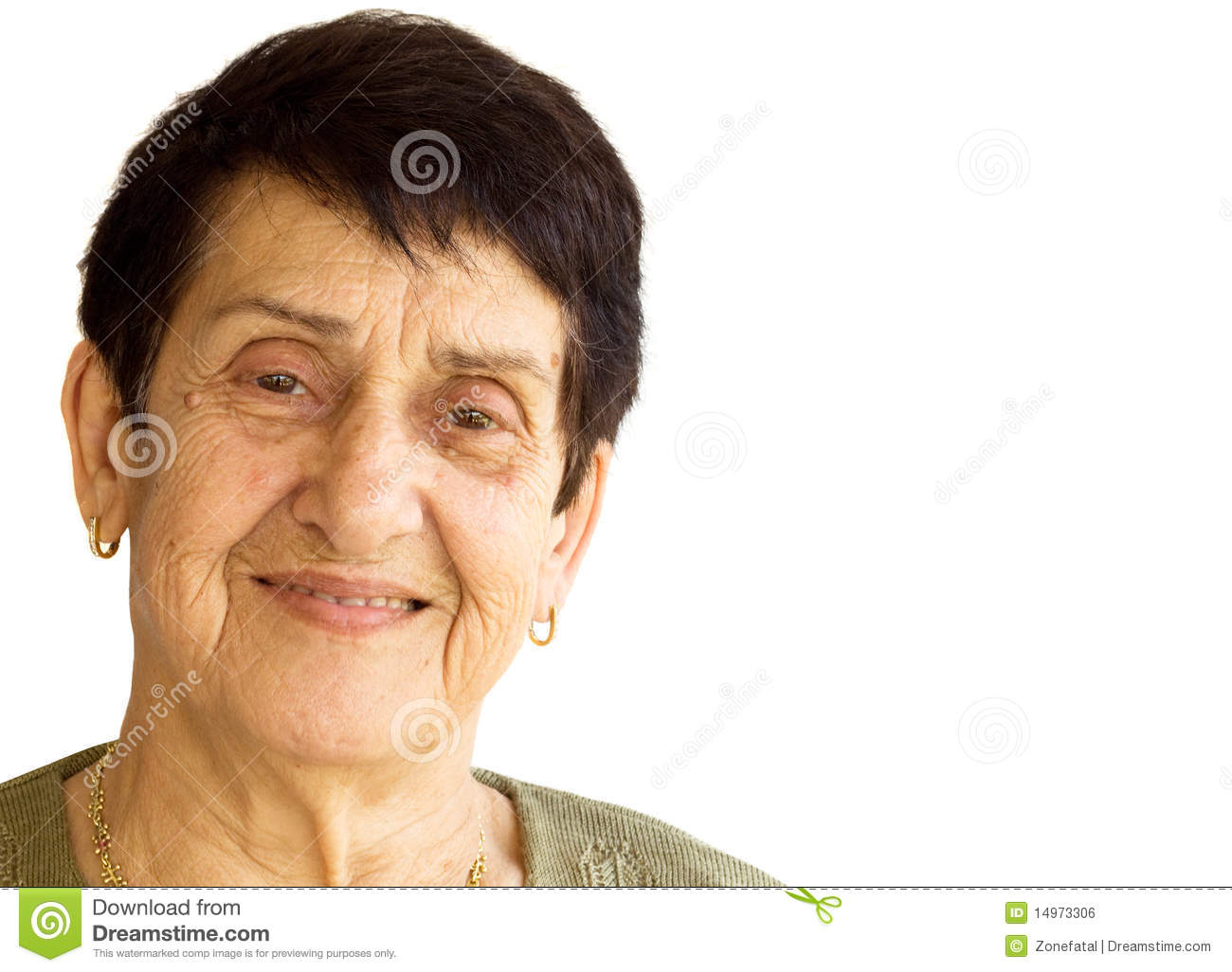 Stock illustrations senior citizen lady with a sign stock clipart - Senior Woman Portrait Royalty Free Stock Image Image