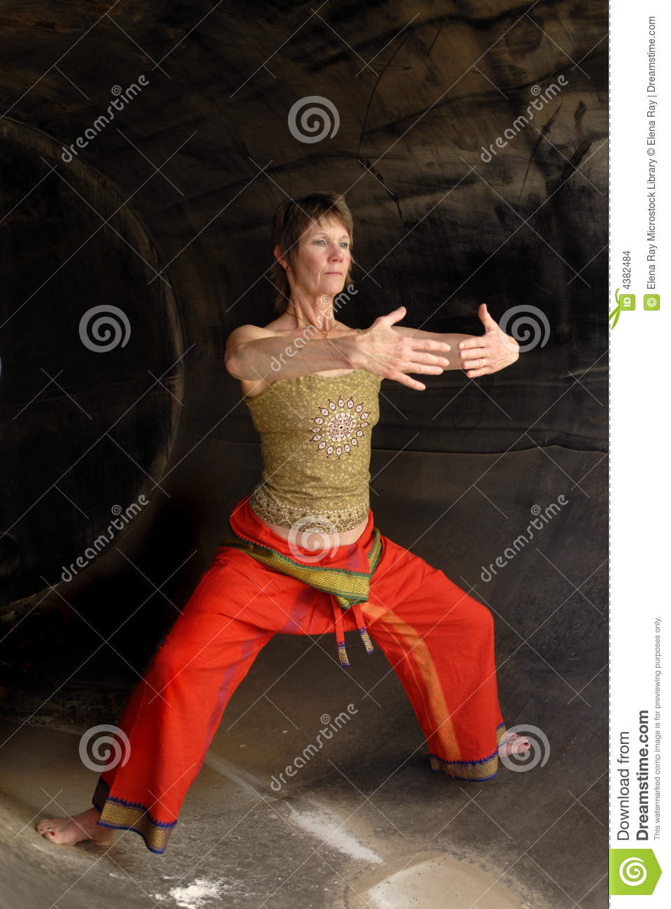 Senior Woman Qi Gong stock photo  Image of focus, infinity