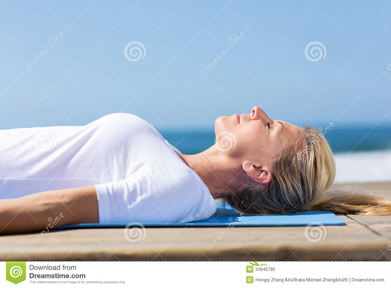 Senior Woman Relaxing Royalty Free Stock Photo Image