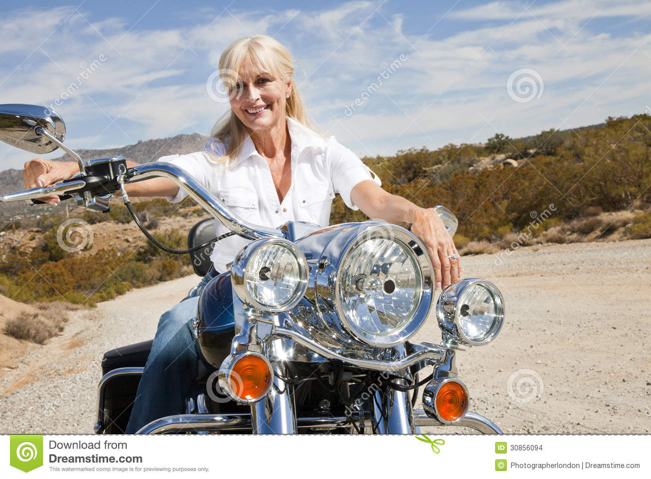 motorcycle girl desert nude