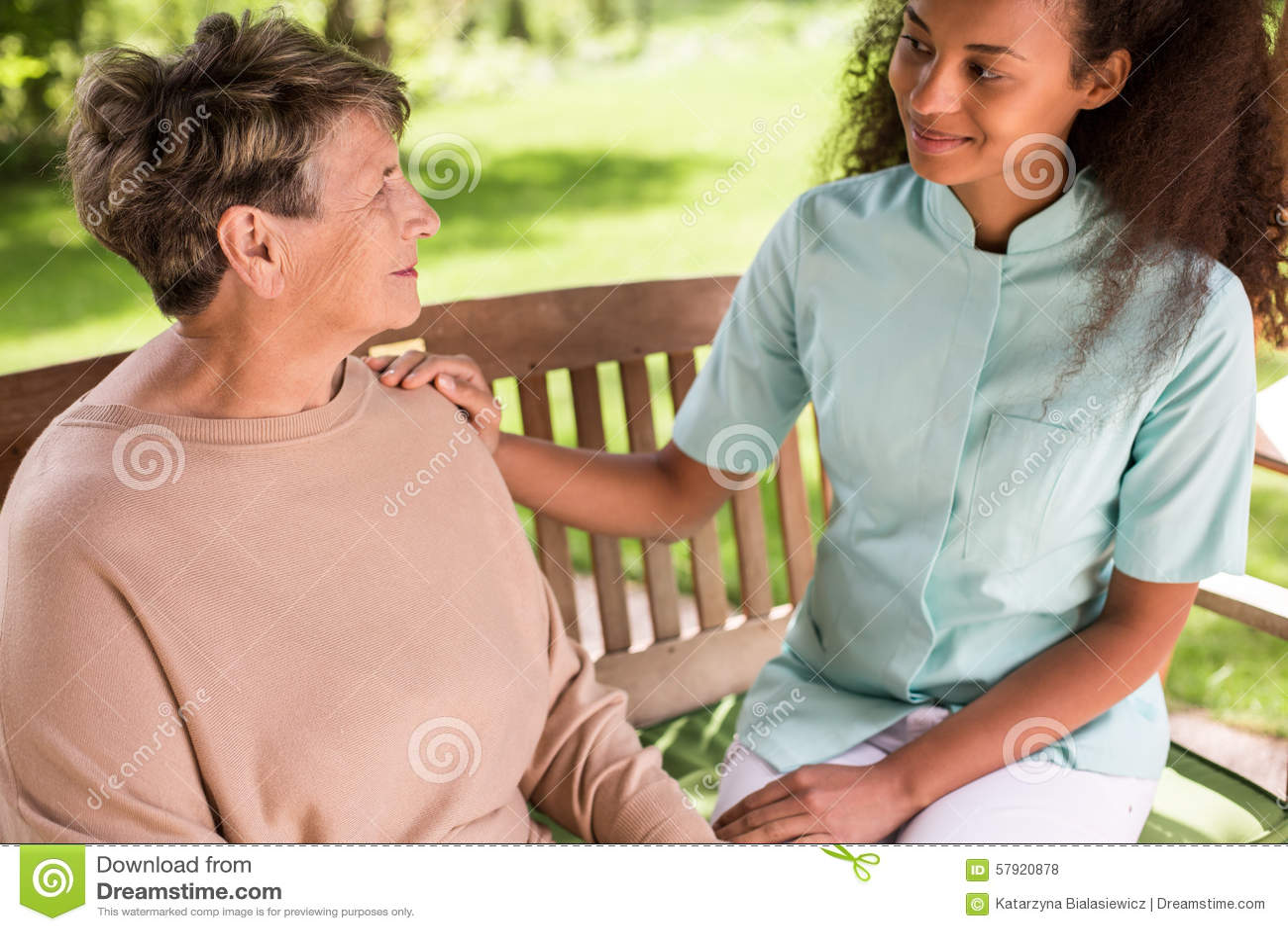 Senior woman spending time outside