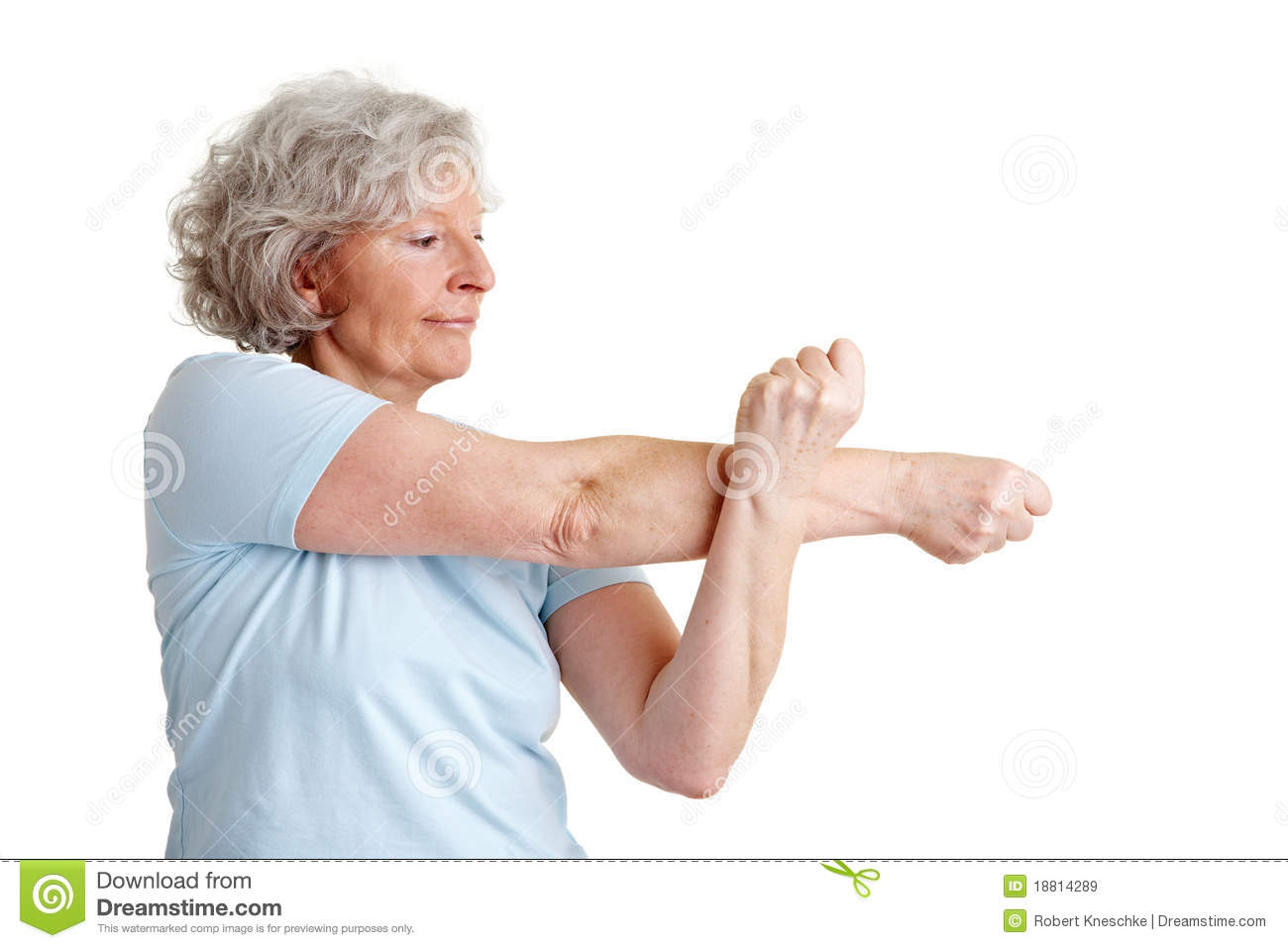 Senior Woman Stretching Her Arms Royalty Free Stock Images ...