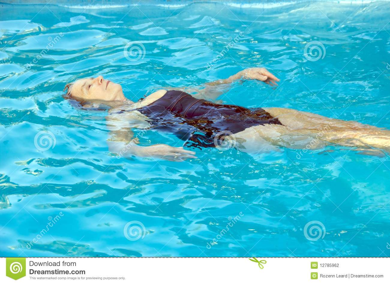 Senior Woman Swimming Stock Photography Image 12785962