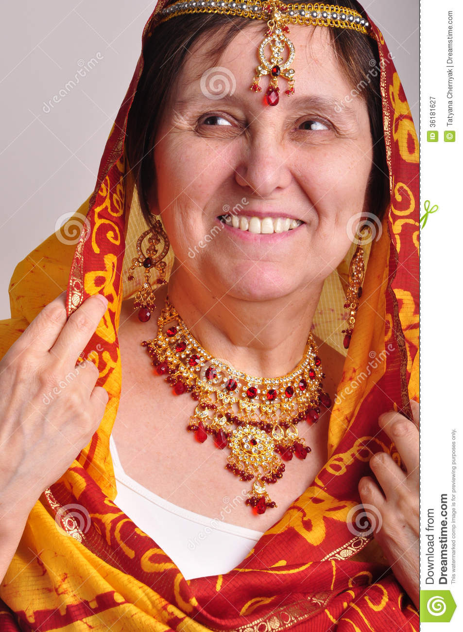 Traditional Indian Woman Senior woman in traditional