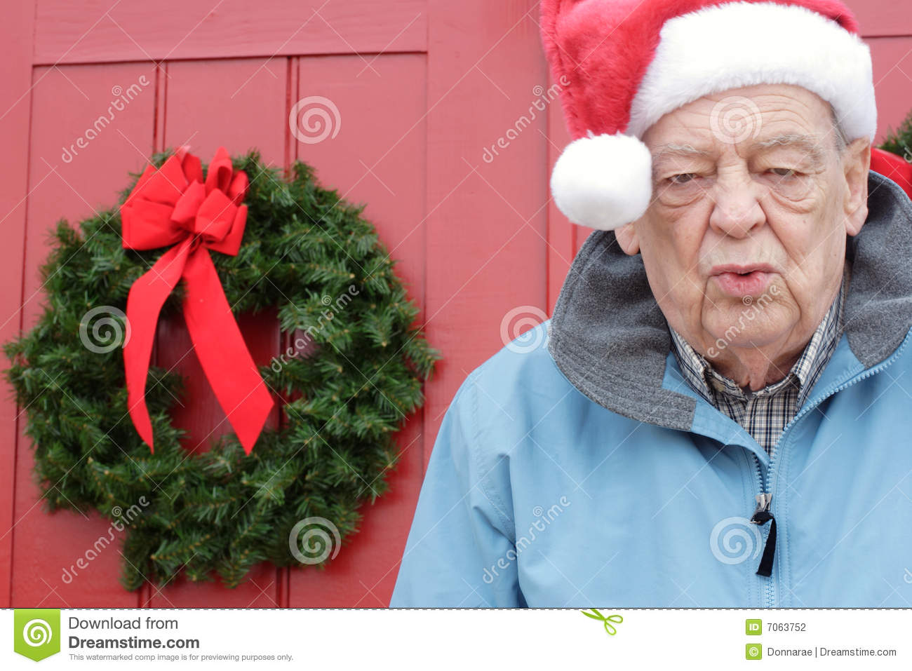 Senior Christmas Gifts: Seniors, Christmas Exhaustion Stock Photography