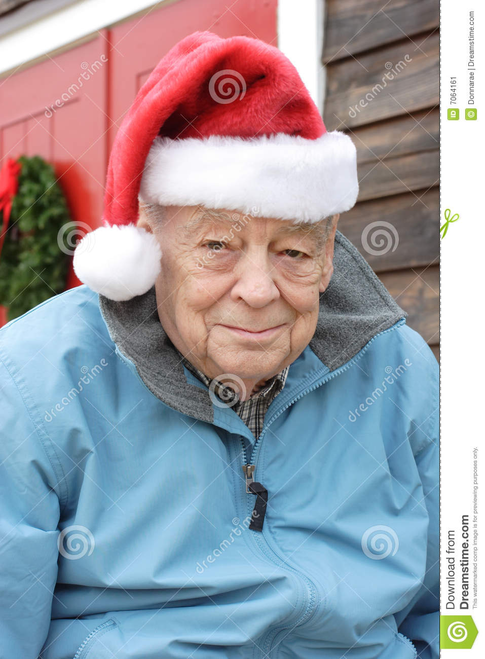Senior Christmas Gifts: Seniors Christmas Holiday Stock Image