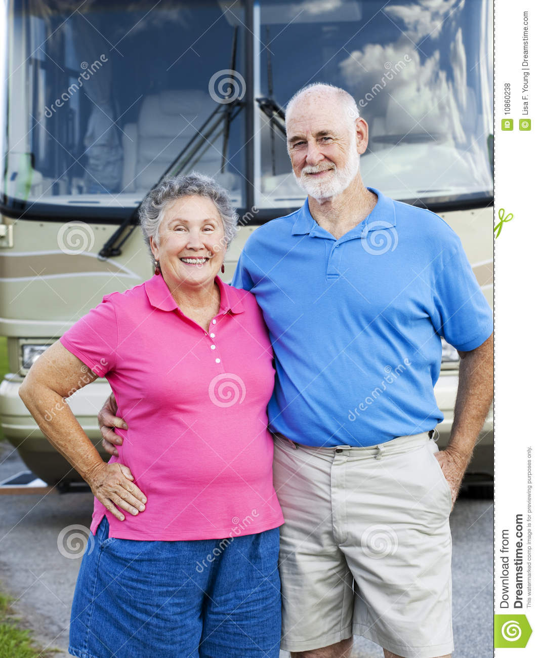 Royalty Free Stock Photos: Happy retired couple isolated