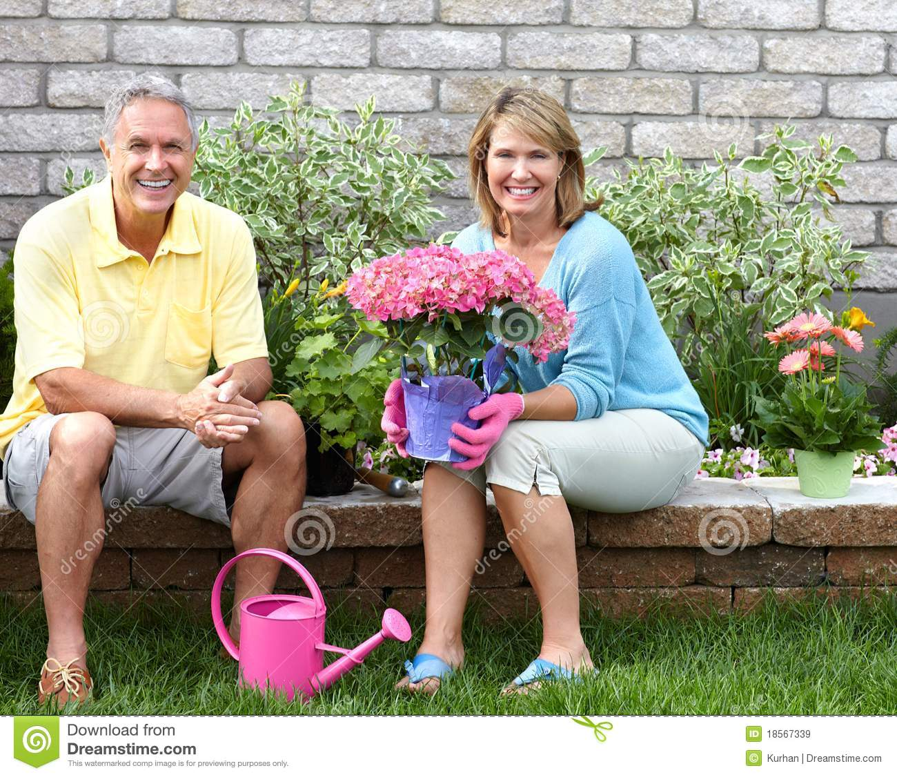 Seniors Gardening Royalty Free Stock Images Image 18567339