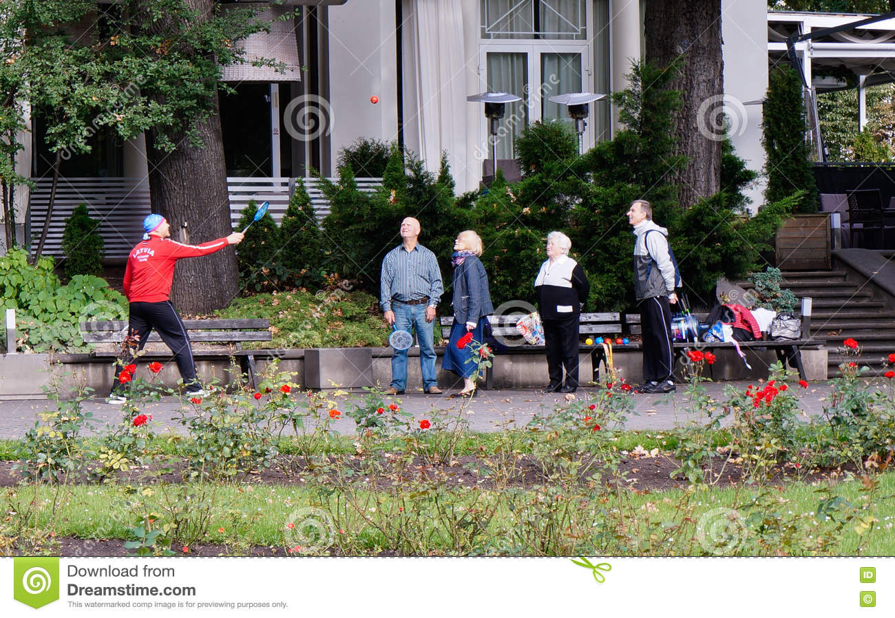 Seniors are playing active game