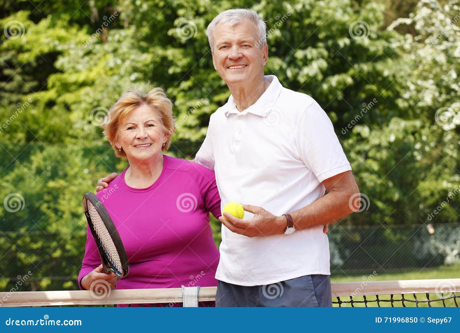 Senior people match