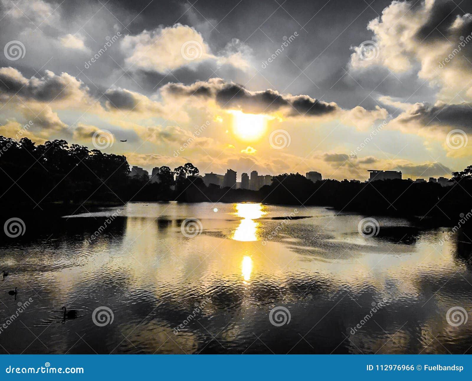 Sunset in the city of São Paulo