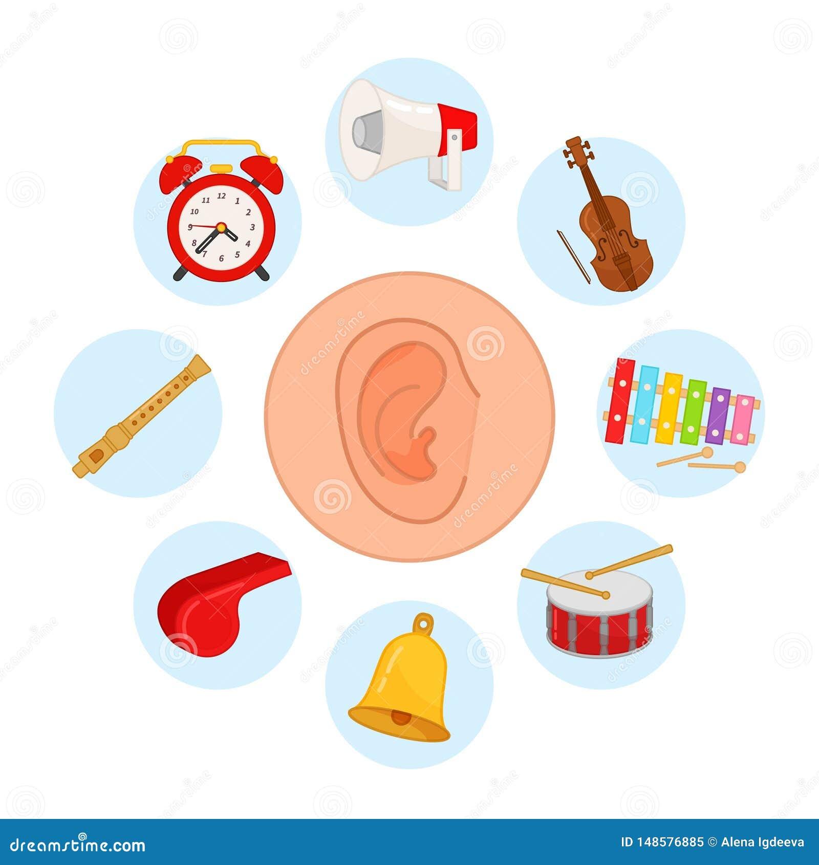 Clipart Sense Of Hearing For Kids
