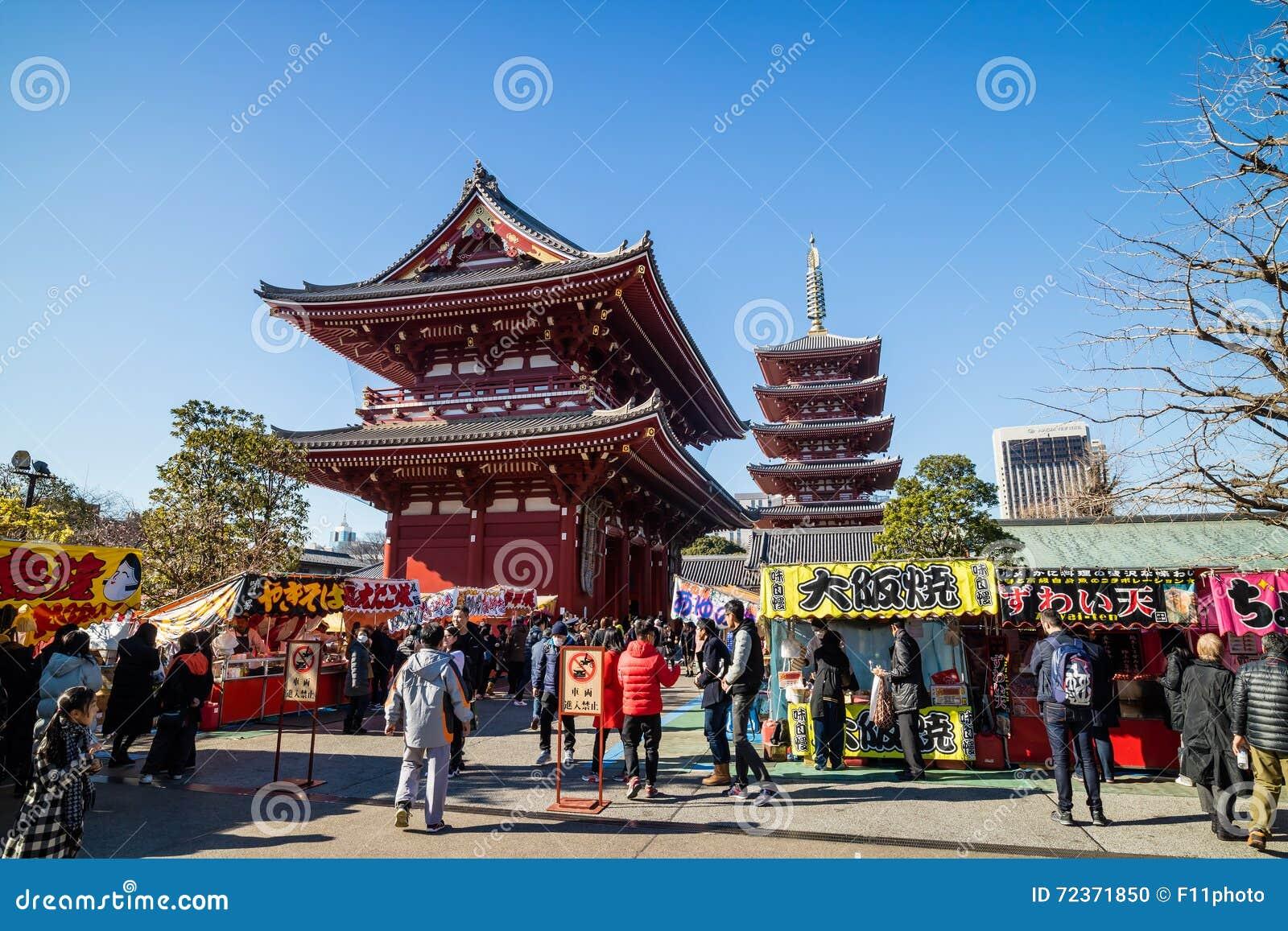 Sensoji寺庙在东京,日本