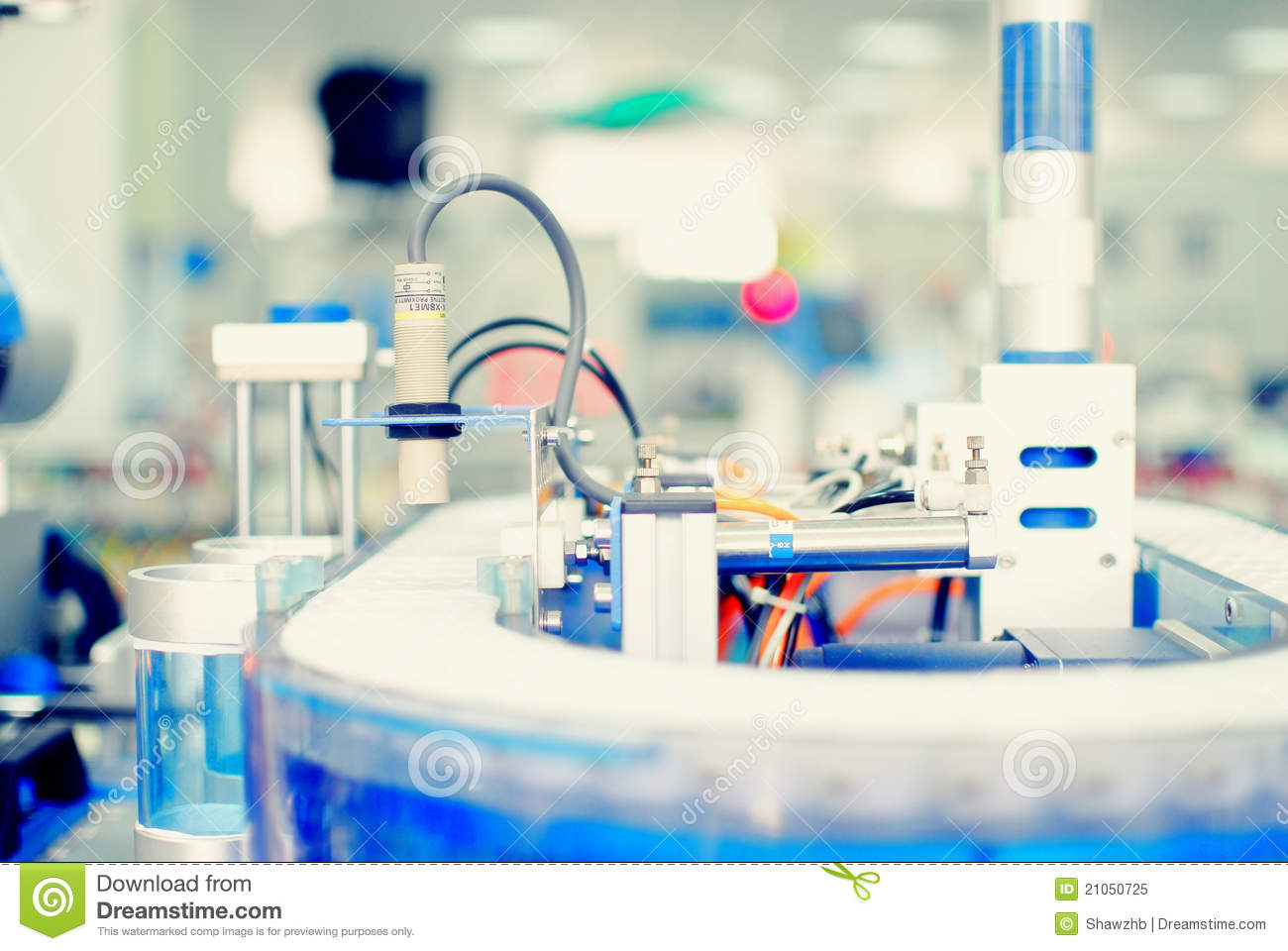Sensor In Factory Automation Royalty Free Stock Photo