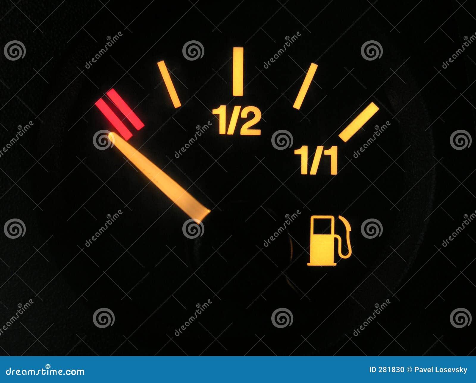 Sensor van lege tank benzine
