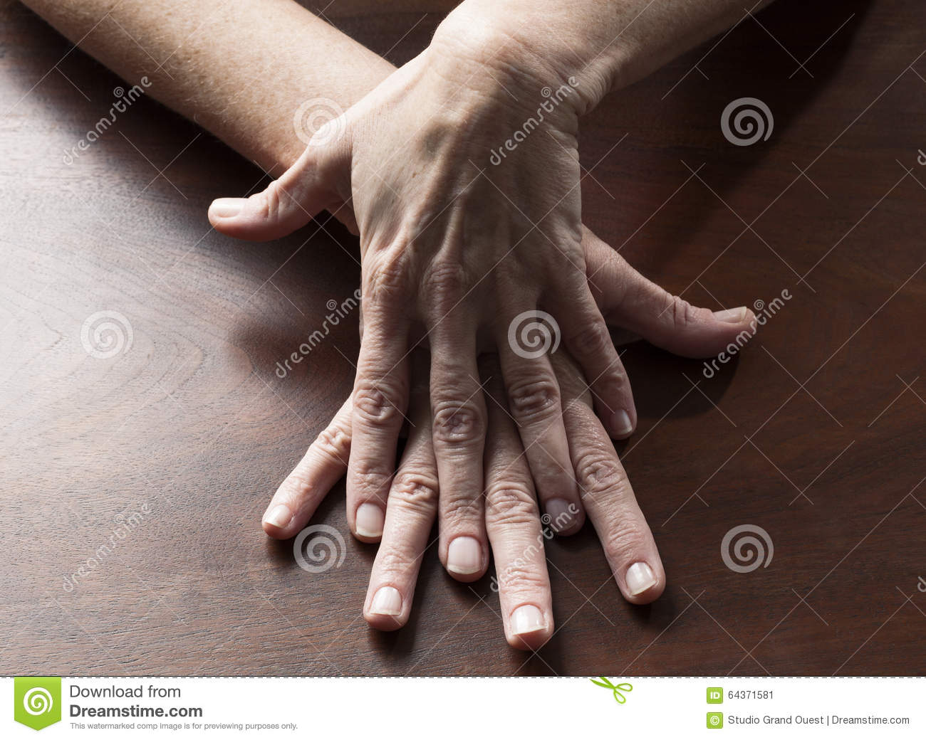 Sensual female hands touching together for confusion