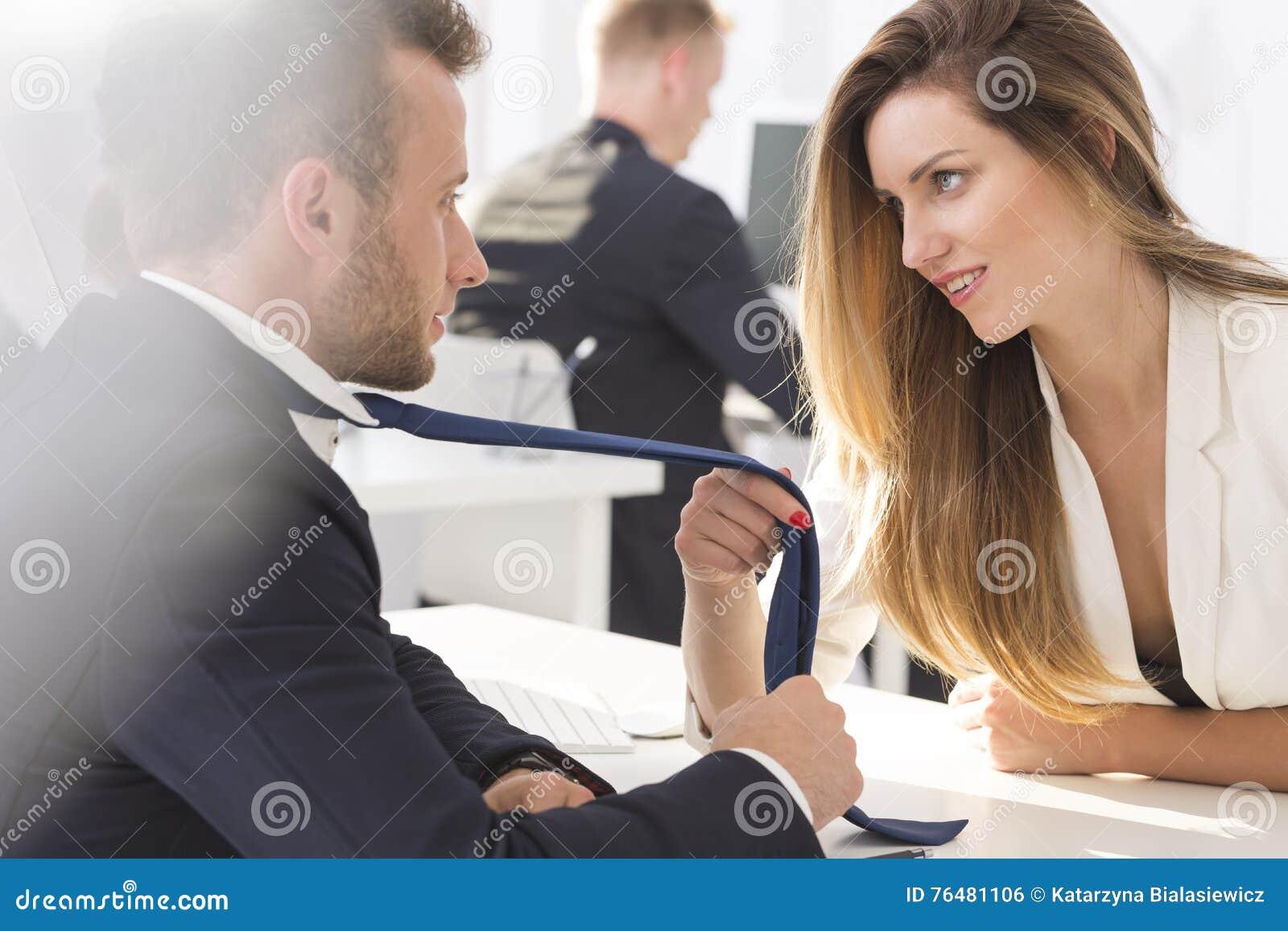 how do men flirt at work