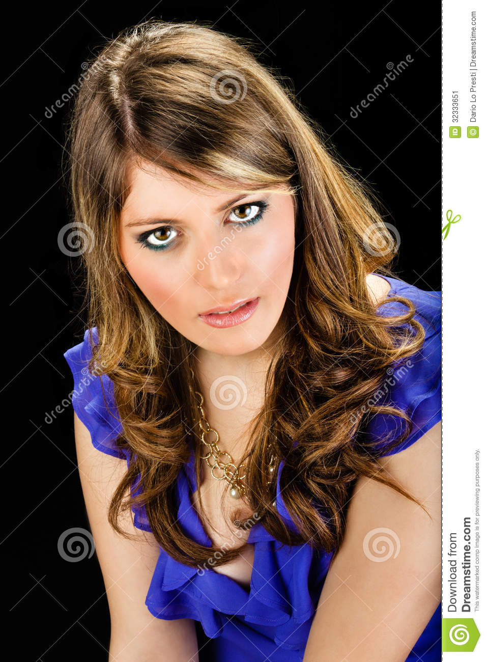 Very Beautiful Blond Teen Girl With: Sensual Lady Stock Image