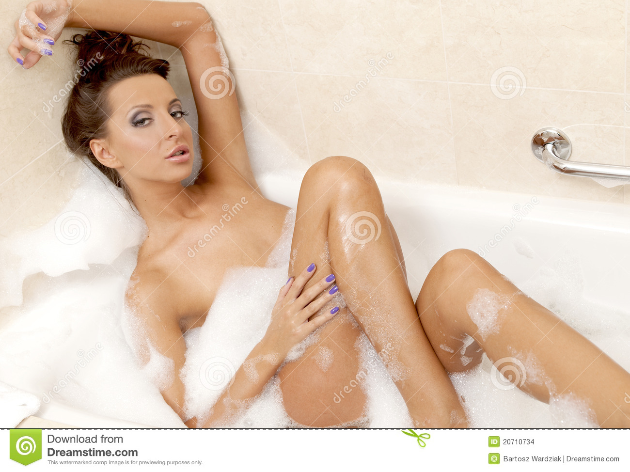Sensual sexy girl relaxing in bath foam stock images for Hot bathroom