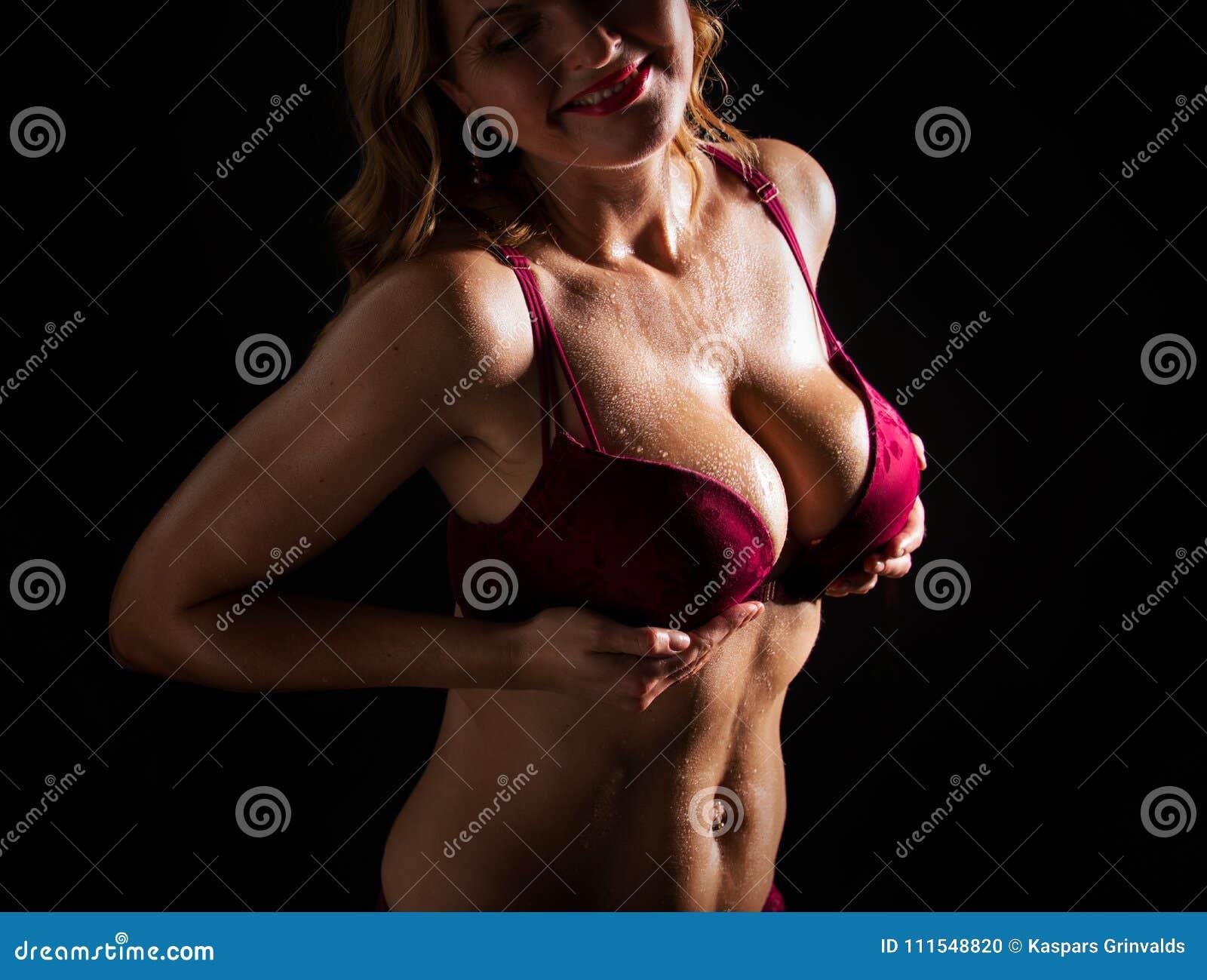 Girl with big tits bra Wife Big Tits Wearing Lingerie Niche Top Mature