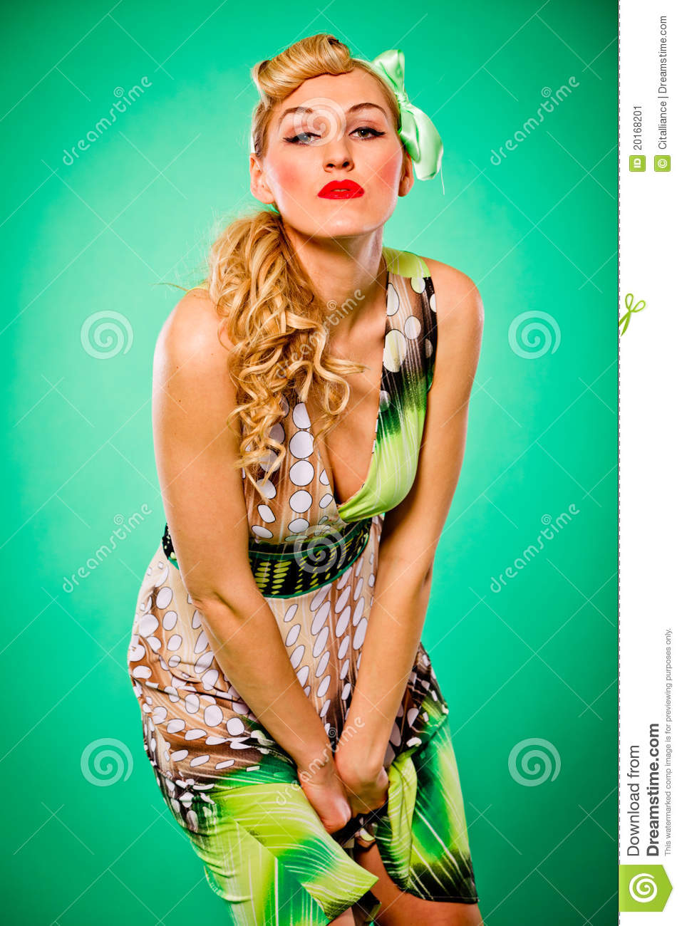 hair pin style with hair pin up style stock image 6757
