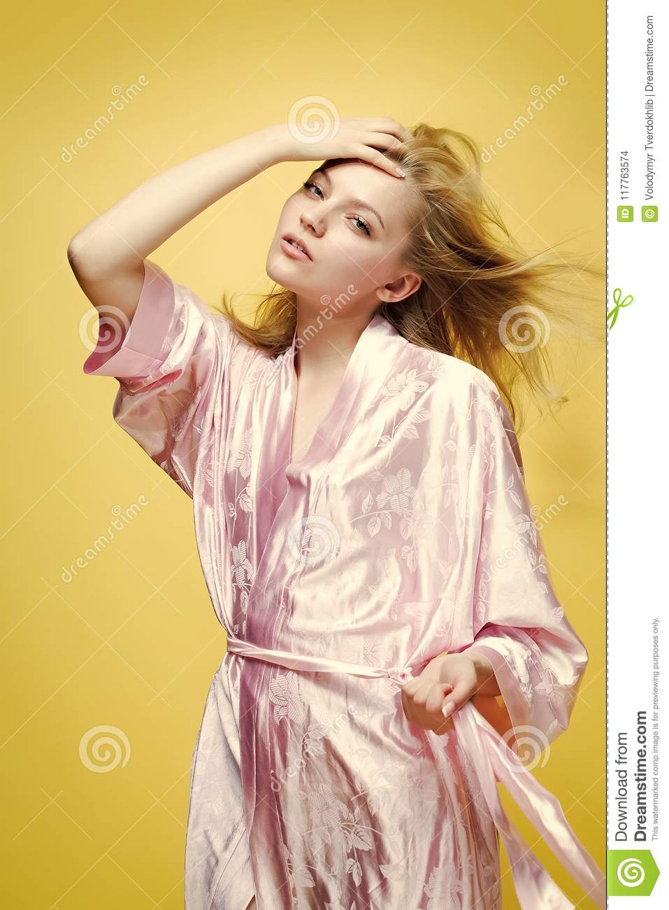 Sensual Woman Body. Lady In Dressing Gown Stock Photo - Image of ...