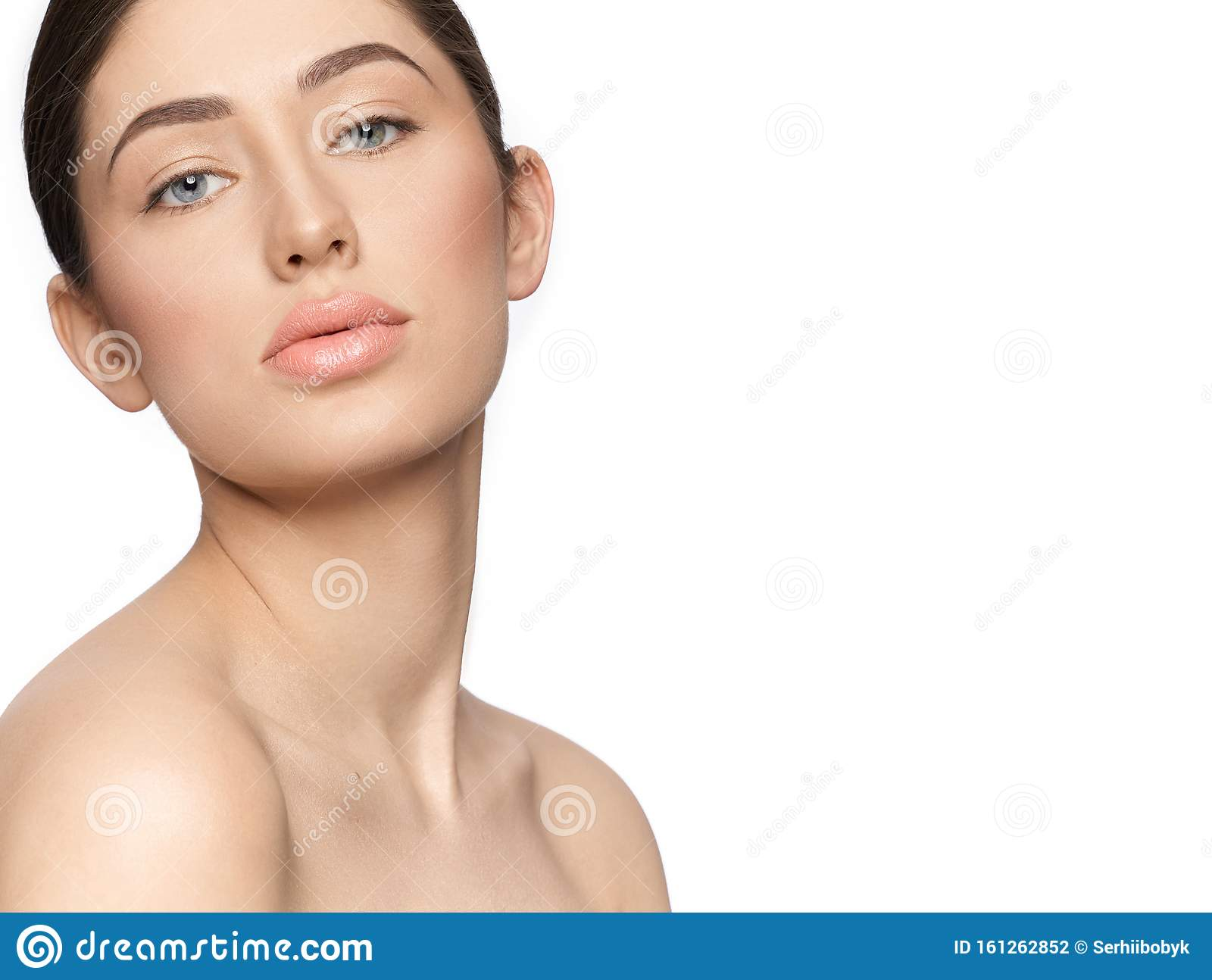 Portrait of beautiful young woman with clean and fresh