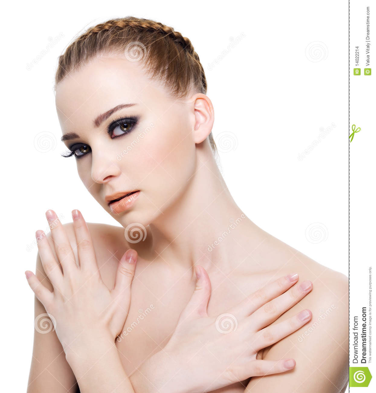 Sensuality Woman With Hands On Body Stock Images - Image ...