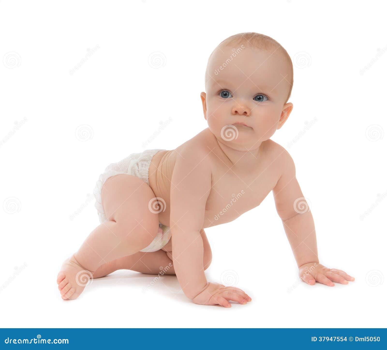 Sentada O Arrastre Del Bebe Del Nino De 9 Meses Foto De Archivo