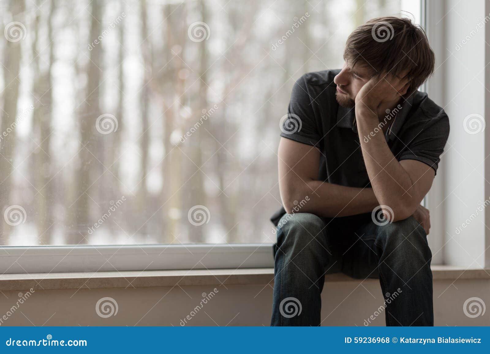 Download Sentada Y Pensamiento Desgraciados Del Hombre Foto de archivo - Imagen de novio, mañana: 59236968
