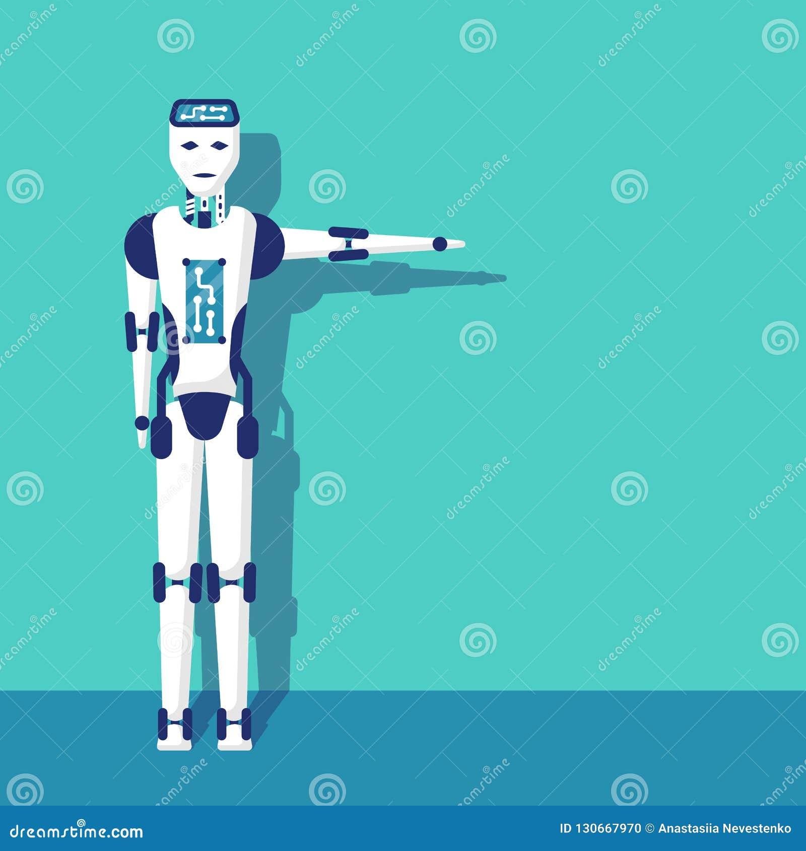 Sentido apontando do braço do robô
