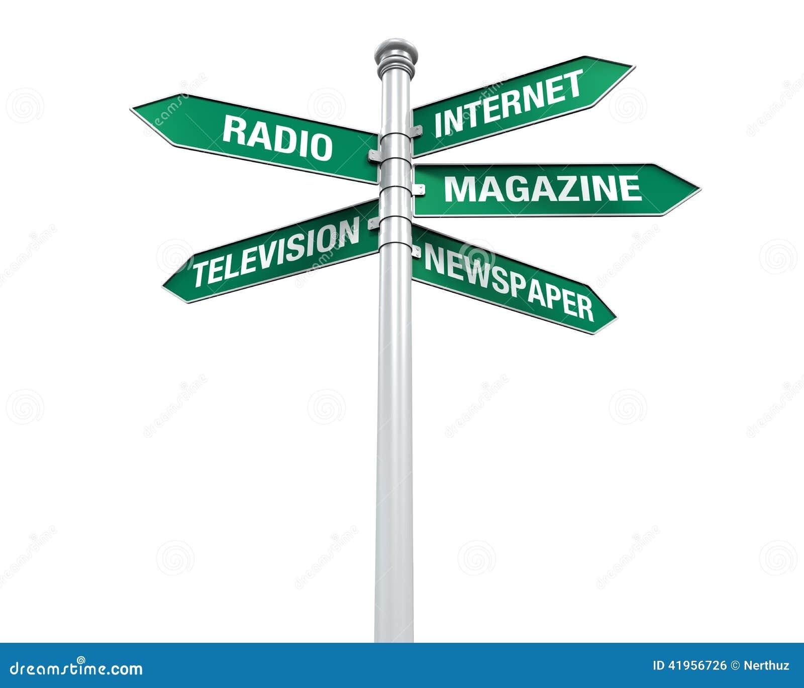 Sentidos do sinal da informação dos meios