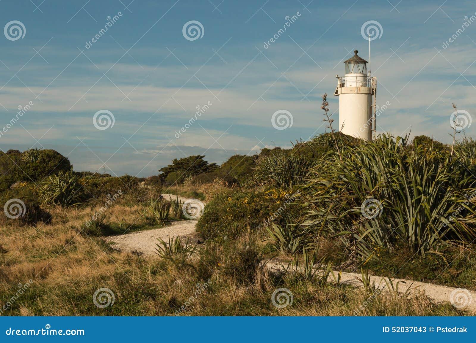 Sentiero per pedoni che conduce al faro di Foulwind del capo sulla costa ovest