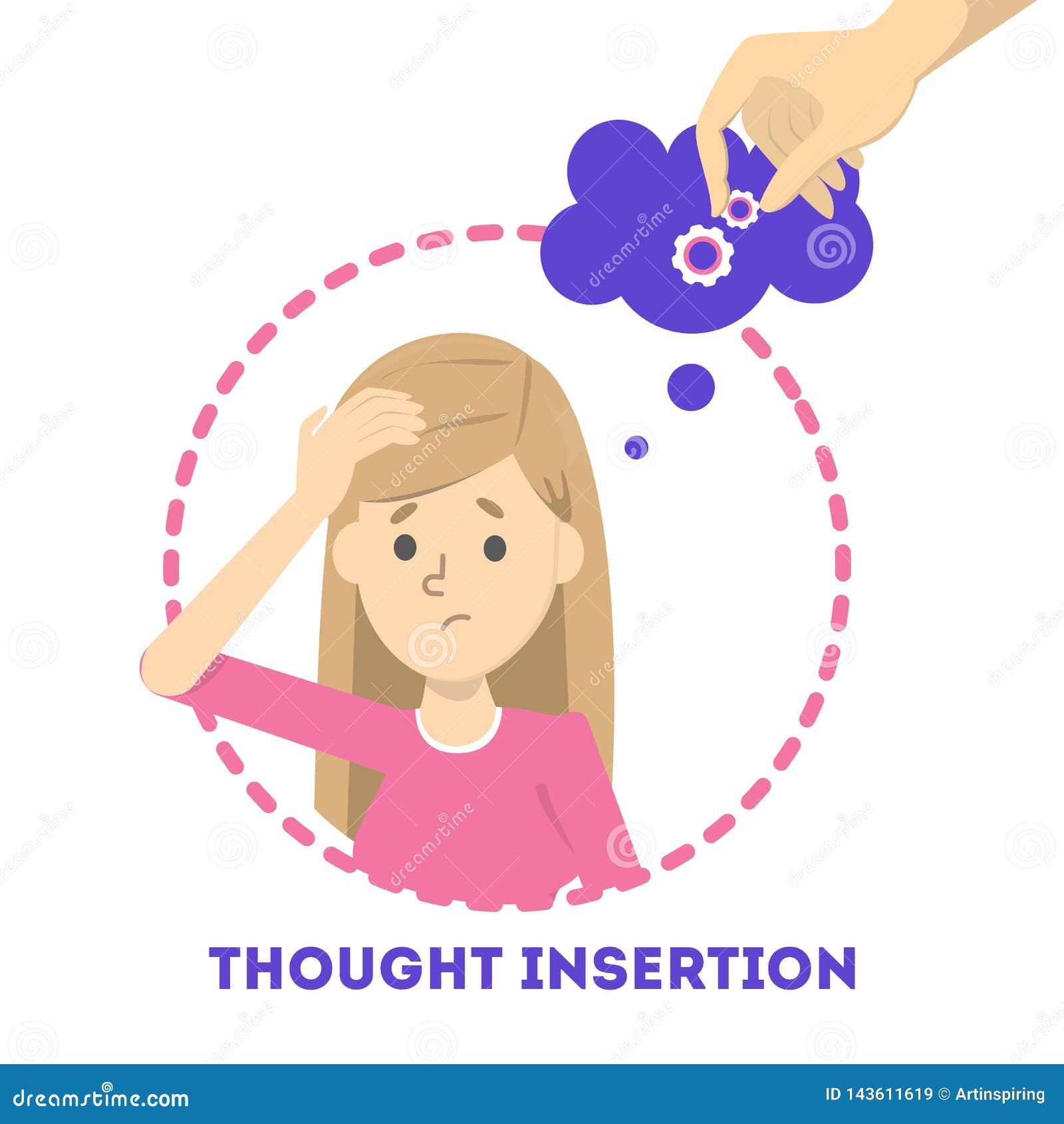 Sentiment d insertion de pensée comme symptôme de la schizophrénie et du trouble bipolaire