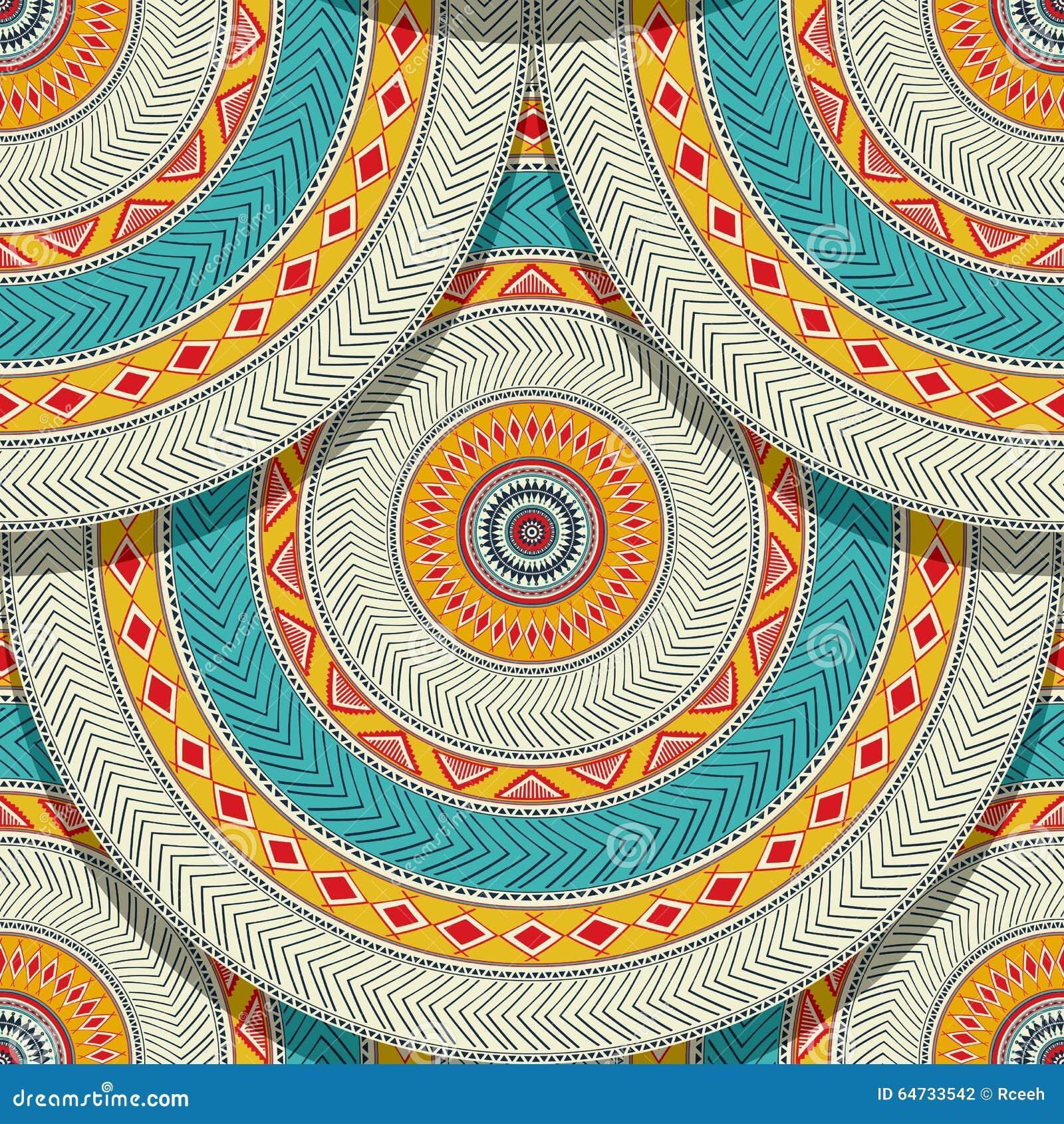 Senza cuciture geometrico etnico tribale