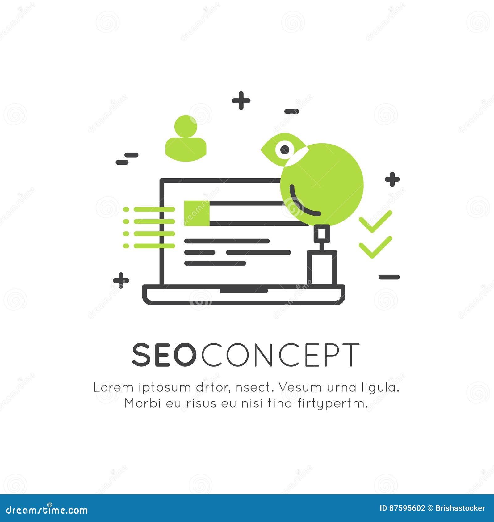 SEO搜索引擎优化过程的商标概念