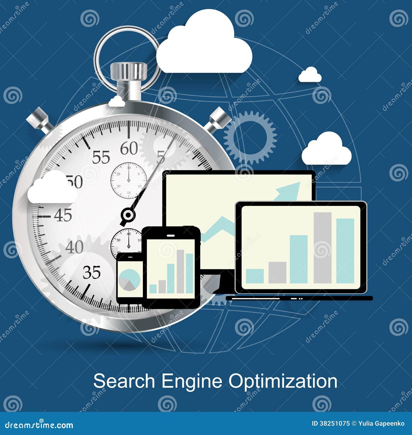 SEO -搜索引擎优化平的象传染媒介