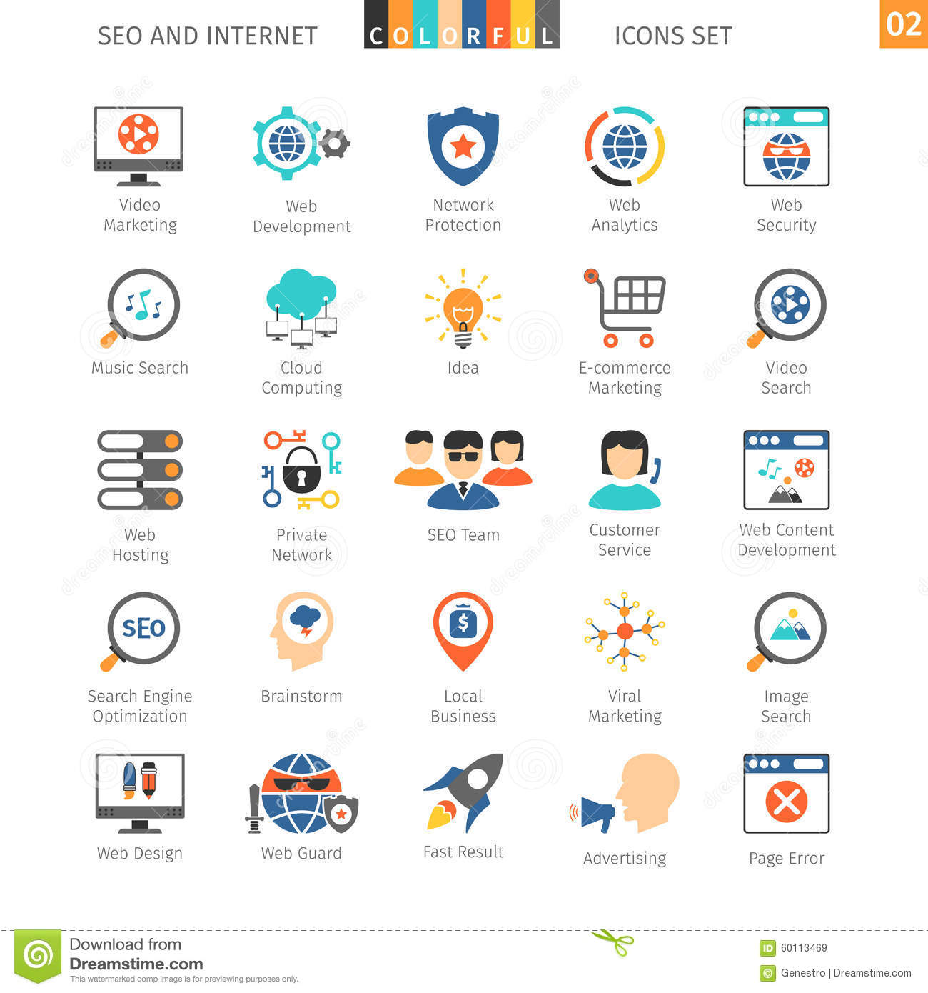 SEO Colorful Icon Set 02